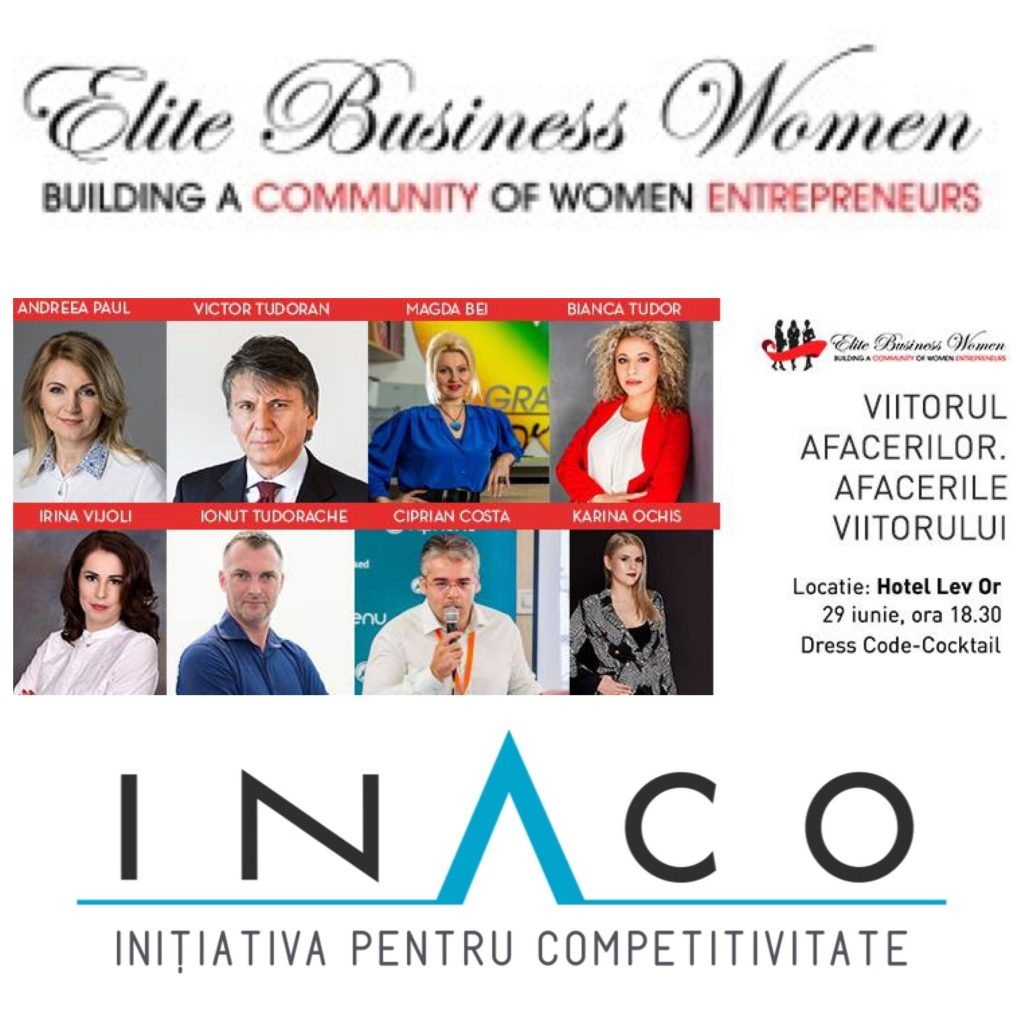INACO și EBW: Afacerile viitorului. Viitorul afacerilor, 29 iunie, orele 18.30