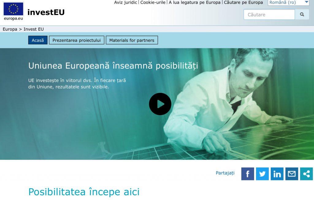 InvestEU va înlocui cele 14 instrumente de finanțare europene actuale. Cazuri concrete de idei finanțate