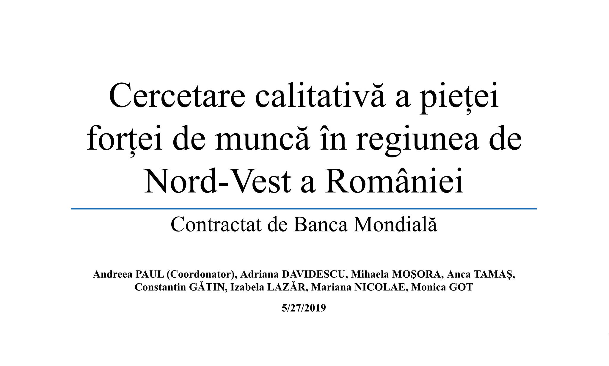 Cercetare calitativă a pieței forței de muncă în regiunea de Nord-Vest