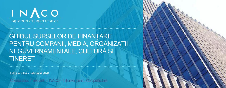 Ghidul surselor de finanțare pentru companii, media, organizații neguvernamentale, cultură și tineret