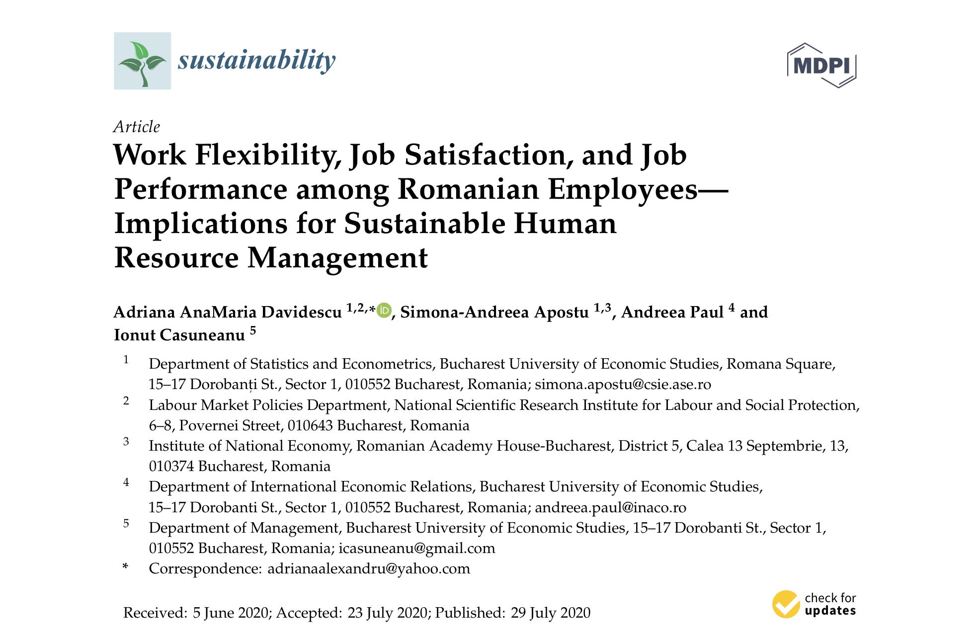 O echipă de cercetători români a creat un indice integrat al flexibilității muncii pentru companiile care vor să crească performanța și satisfacția angajaților