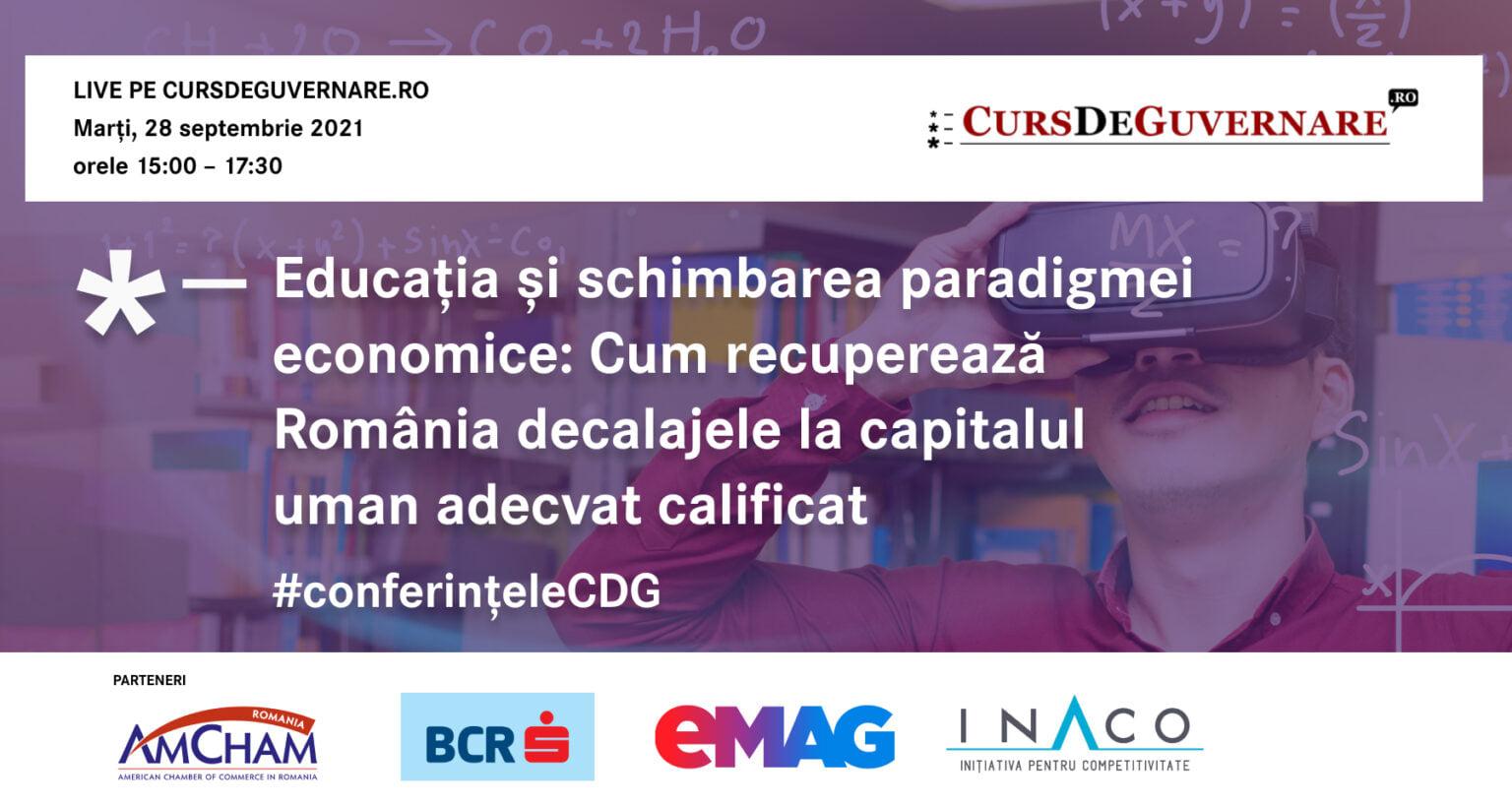 Dezbatere: Educația și schimbarea paradigmei economice